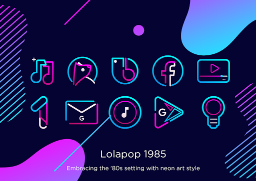 Download APK: Lolapop 1985 Iconpack v1.2 [Patched]