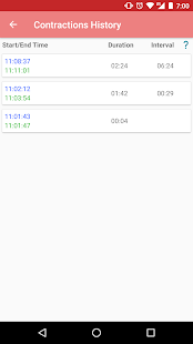 Contraction timer 1.2.1 Screenshots 3