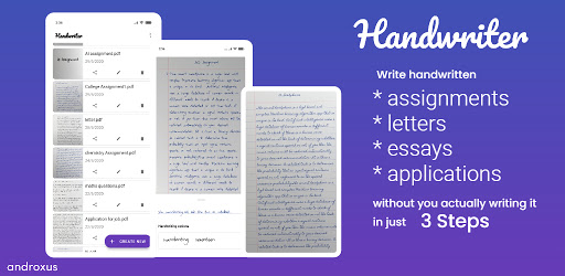 Handwriter - Text to Assignments, Essays, Letters android2mod screenshots 1