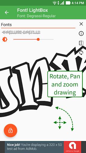 Font! Lightbox tracing app  screenshots 3
