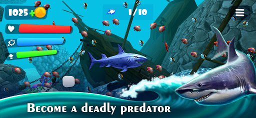 Hunting Shark Simulator - Hungry Fish Evolution  screenshots 1