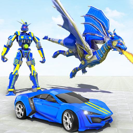 Dragon Robot Transforming Games: Car Robot Games