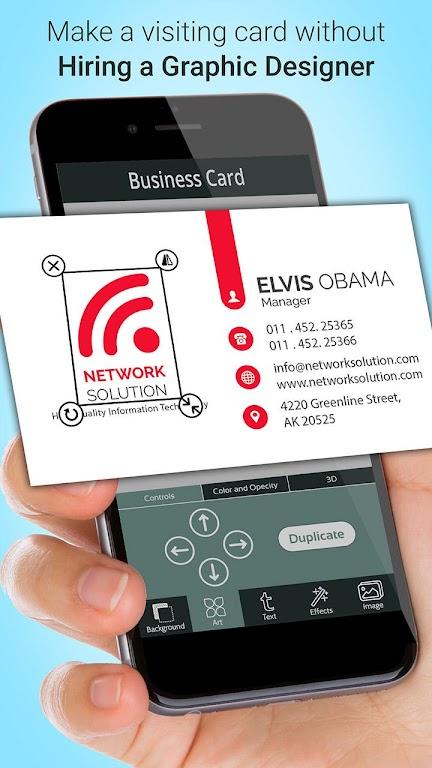 Business Card Maker  poster 1