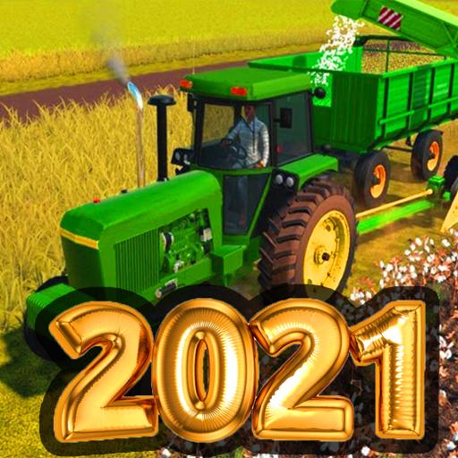 Free Village Tractor Drive 2021-Farm Offroad Sim Games 5