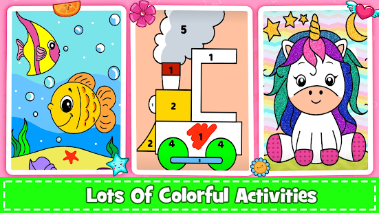 Coloring Games : PreSchool Coloring Book for kids screenshots 23