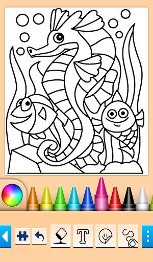 Dolphin and fish coloring book 16.3.2 screenshots 2