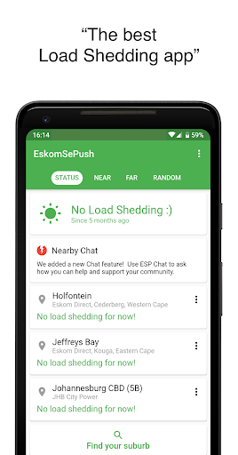 EskomSePush - The Load Shedding App  Screenshots 1