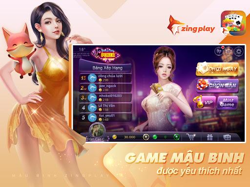 Poker VN - Mu1eadu Binh u2013 Binh Xu1eadp Xu00e1m - ZingPlay screenshots 11