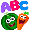 Funny Food!🥦learn ABC games for toddlers&babies📚 APK icon