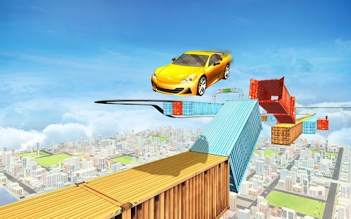 Racing Car Stunts On Impossible Tracks: Free Games Screenshot