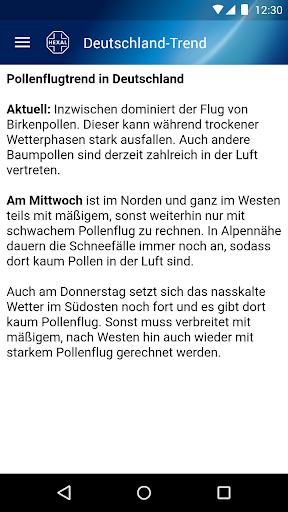 Pollenflug-Vorhersage  screenshots 6