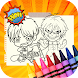 Attack of Titans Coloring Game