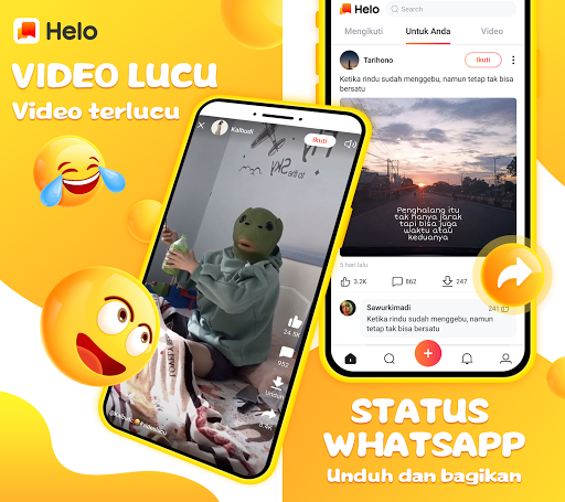 Helo - Video Lucu, Status Whatsapp dan Sepakbola 1.0.8.07 screenshots 1
