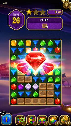 Magic Lamp - Genie & Jewels Match 3 Adventure apkpoly screenshots 4