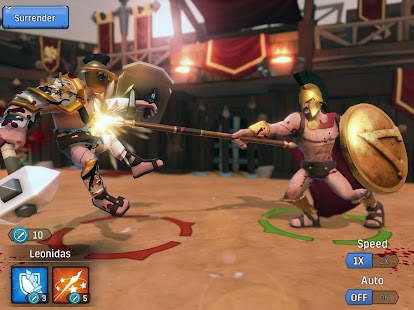 Gladiator Heroes - Strategy and Fighting Game Screenshot