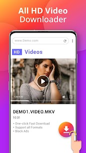 Downloader – Free Video Downloader App MOD APK V1.1.2 – (Free Purchase) 2