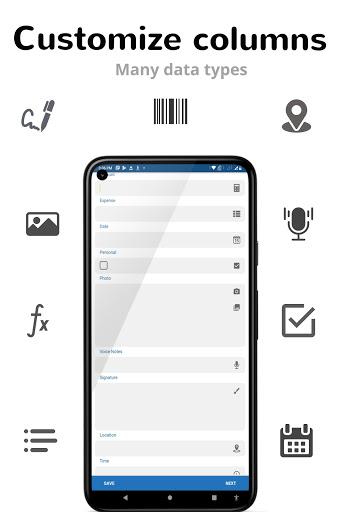 Table Notes - Pocket database & spreadsheet editor 105 Screenshots 8