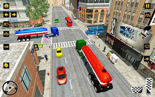 Oil Tanker Usa Truck Driver Transport Cargo 3D