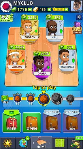 Idle Five Basketball android2mod screenshots 1