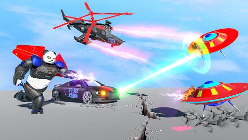 Flying Police Panda Robot Game: Robot Car Game screenshots 15