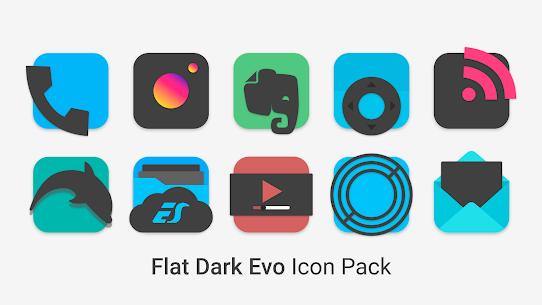 Flat Dark Evo – Icon Pack (MOD, Paid) v4.0 2