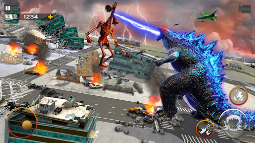 Monster Smash City - Godzilla vs Siren Head  screenshots 2