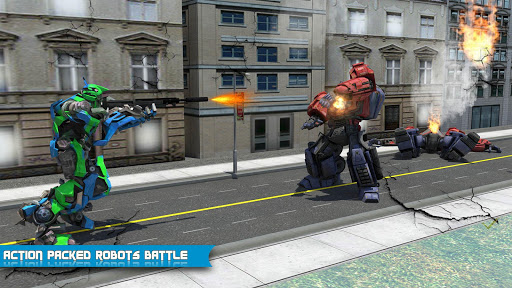 Futuristic Robot Dolphin City Battle - Robot Game 1.5 screenshots 12