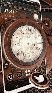 Wooden Clock Launcher Theme