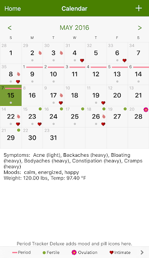 Period Tracker screenshots 2