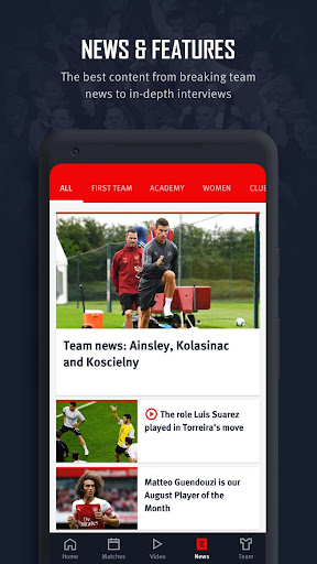 Arsenal Official App 6.0.3 Screenshots 5