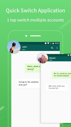 2Face: 2 Accounts for 2 whatsapp, dual apps screenshots 4
