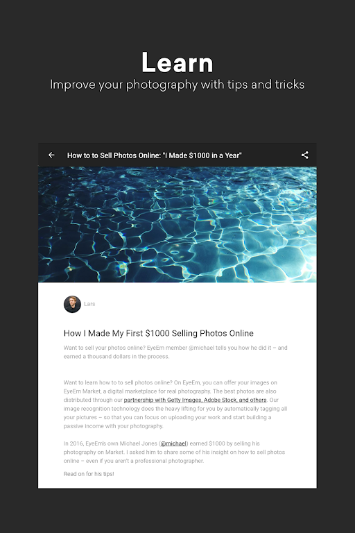 EyeEm: Free Photo App For Sharing & Selling Images  poster 16