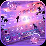 Sunset Sea Dolphin Keyboard Theme