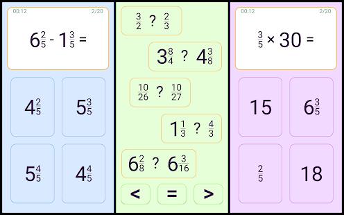 Mental arithmetic. Math kids games
