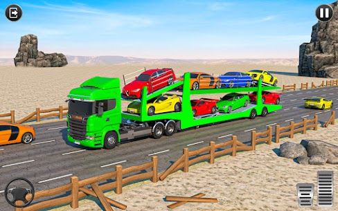 Crazy Car Transport Truck: Offroad Driving Game 3