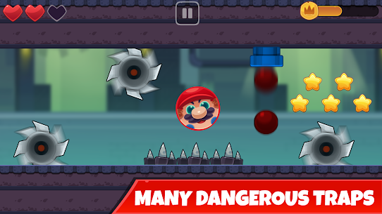 Red Bounce Ball: Jumping and Roller Ball Adventure 3