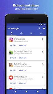 ML Manager Pro Apk: APK Extractor (Paid/Patched) 1