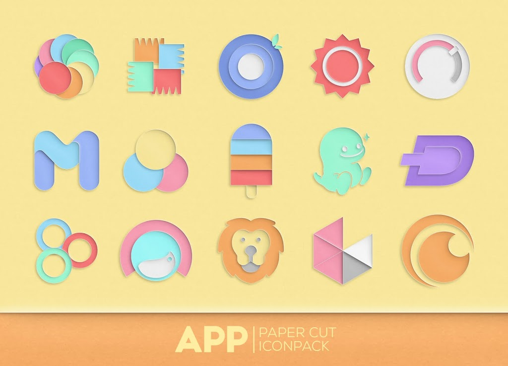 Paper Cut Icon pack New  poster 3