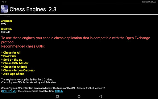 Chess Engines OEX android2mod screenshots 4