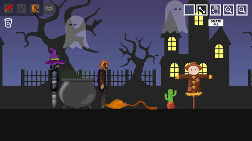 Halloween Ragdoll Playground: Human Witch apklade screenshots 1