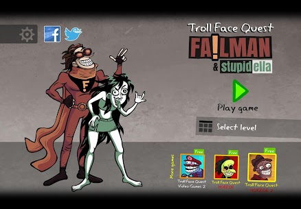 Troll Face Quest: Stupidella and Failman 1.3.0 APK Mod for Android 1