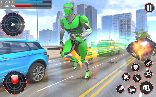 Light Speed Robot Hero - City Rescue Robot Games 1.0.2 screenshots 6