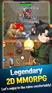 Grow Stone Online : 2d pixel RPG, MMORPG game 3