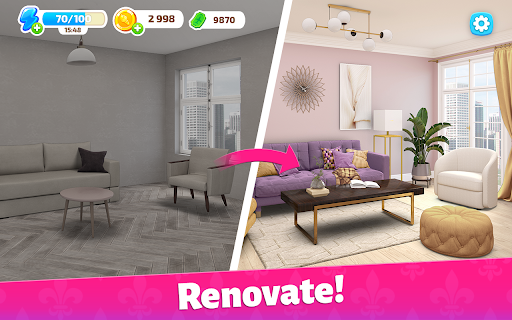 Color Home Design Makeover - paint your love story  screenshots 8