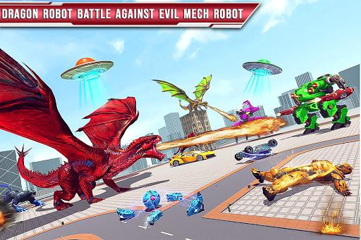 Royal Lion Robot Games- Dragon Robot Transform War  screenshots 1