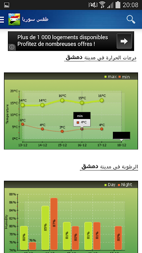 Syria Weather - Arabic  Screenshots 3