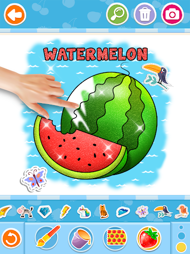 Fruits and Vegetables Coloring Game for Kids  screenshots 9