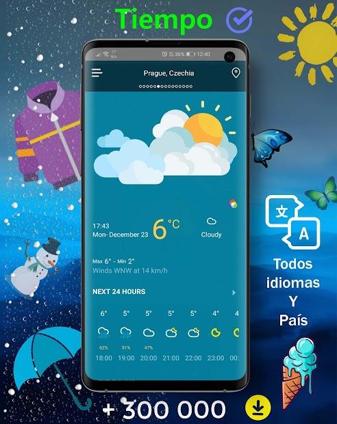 Screenshot 2 de Tiempo en vivo - Pronóstico del tiempo 2020 para android