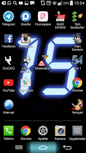 digital clock wallpaper screenshot 1