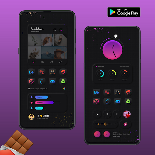 Download APK: Chocolate KWGT v2021.May.Release [Paid]